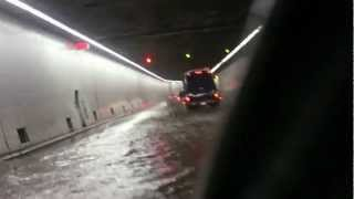 Ville Marie expressway during May 29, 2012 flood