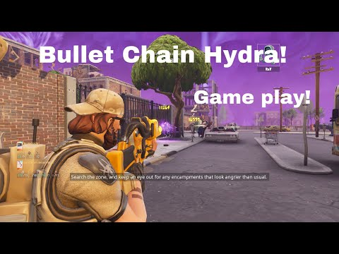 Shooting The Rarest Gun In The Game.. *Bullet Chain Hydra* Fortnite Save The World