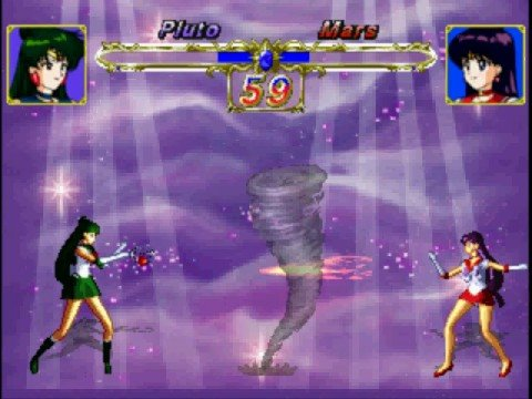 Sailor Pluto Vs Sailor Mars(Playstation)