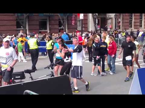 Terror attack Boston Marathon 2013 Amateur Video
