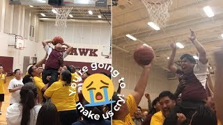 Boy With Cerebral Palsy Lifted From Wheelchair To Score First Basket