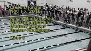 Newington Girls Swimming 400 Free Relay Record