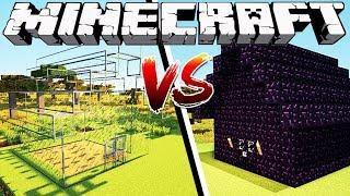GLASS HOUSE VS OBSIDIAN HOUSE - Minecraft