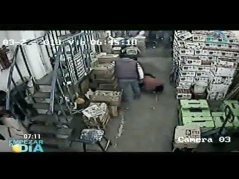 Cámara de seguridad capta el homicidio de un comerciante en la Central de Abastos DF