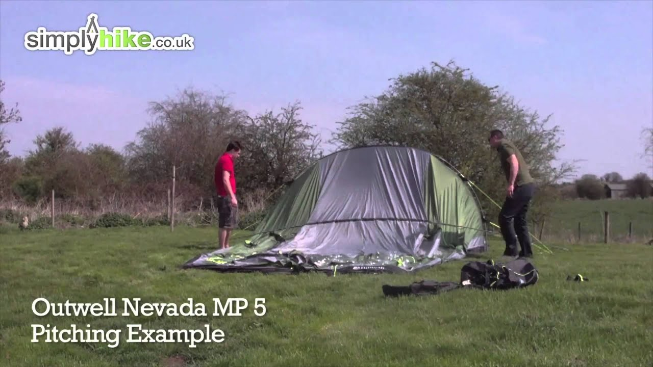 Outwell Nevada MP 5 Pitching Example  wwwsimplyhikeco