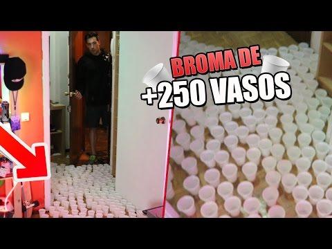 LA BROMA de los 250 VASOS CON AGUA!! MI MEJOR PRANK [bytarifa]