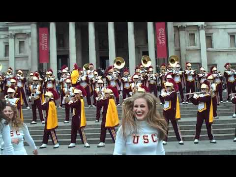 USC Trojan Marching Band Kids Aren't Alright Trafalgar Square London 2012