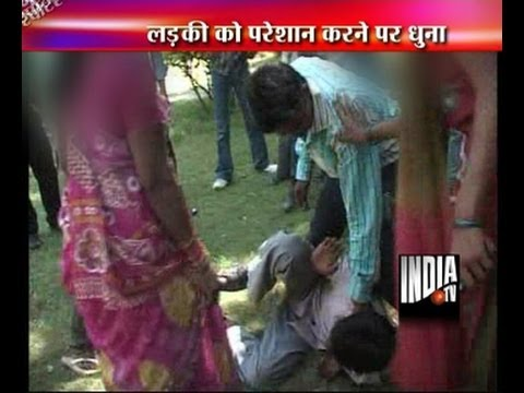 A roadside romeo beaten by girl
