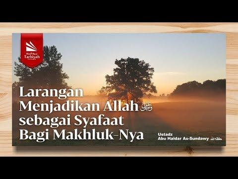 Larangan Menjadikan Allah Sebagai Syafa'at  Bagi Makhluk-Nya | Ustadz Abu Haidar As-Sundawy