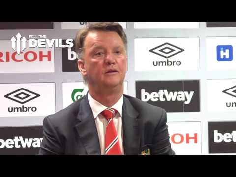 Louis van Gaal Presser | West Ham 3-2 Manchester United | 'Not Enough Centimeters'