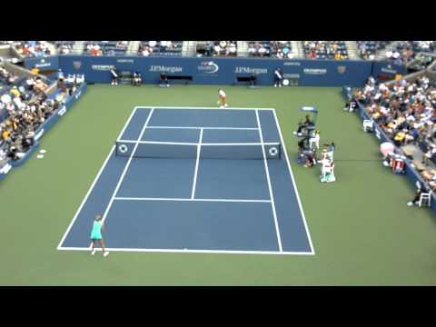 US Open 2010 - Maria Sharapova vs Jarmila Gajdosova - first set - HD 720p