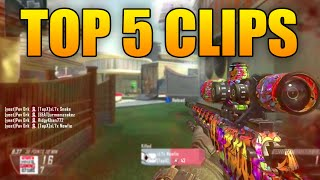 Top 5 Clips of The Week - CRAZY HEADSHOT CLIP - (Black Ops 2)