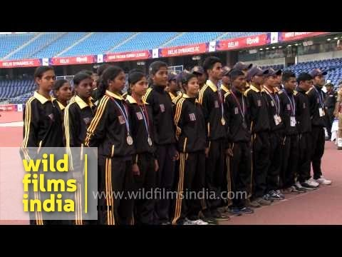 West Bengal Athletes Stand For Ncc Song ' Ham Sub Bharathiya Hain' video