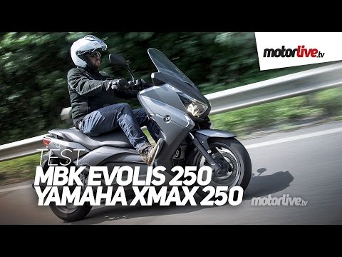 TEST | MBK EVOLIS 250 / YAMAHA XMAX 250 – Le meilleur ?
