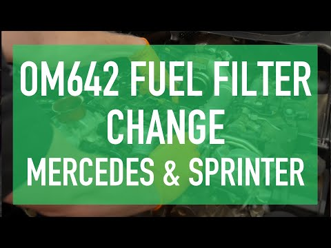 OM642 3.0L V6 CDI BlueTec Fuel Filter Change