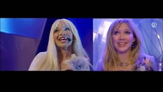 Trisha Paytas and Hilary Duff  (side by side) - what dreams are made of