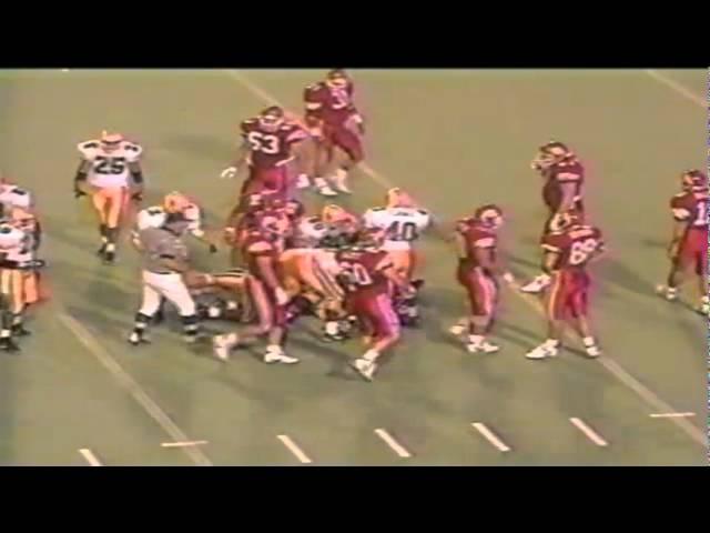 Oregon LB John Taumoepeau stops Utah on 3rd & 2 forcing a punt 9-21-1991
