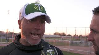 POR vs KC Preseason Savarese MLS Interview 2 24 18