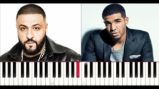 DJ Khaled ft Drake - To The Max (Piano Tutorial Instrumental )