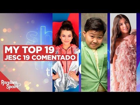 Junior Eurovision 2019 | MY TOP 19 [19 - 11] (Comentado)