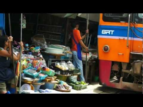 The amazing Mae Khlong Railway Market, Thailand