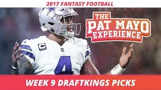 2017 Fantasy Football - Week 9 DraftKings Picks, Preview and Sleepers