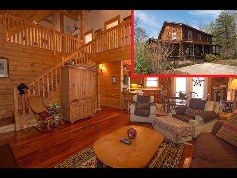 Mr. Lake Lure Presents:  Tri Level Log Home For Sale - 160 Juniper Creek