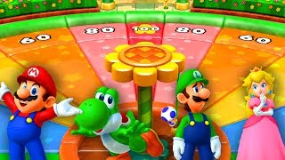 Mario Party 10 - Minigames - Mario vs Yoshi vs Luigi vs Peach