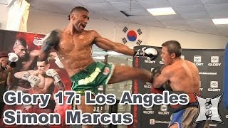Glory 17: Simon Marcus Works Out Before Joe Schilling Fight (HD / complete + unedited)