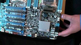 ASUS Z9PE-D8 WS dual socket upcoming Xeon mobo gets video hands-on