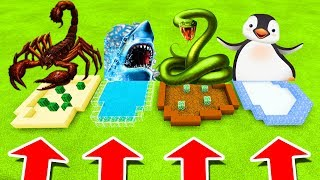 Minecraft PE : DO NOT CHOOSE THE WRONG FARM! (Scorpion, Shark, Anaconda & Penguin)