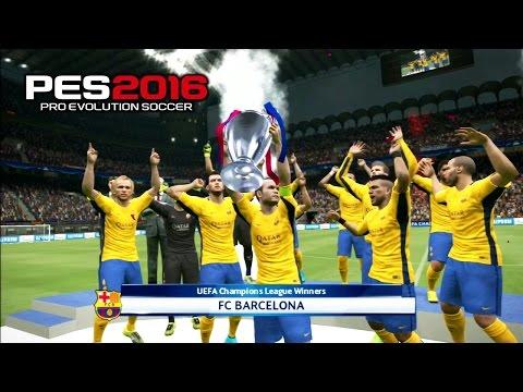 PES 2016 UEFA Champions League Final PSG vs Barcelona 3-5