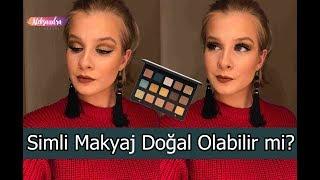 Hem Simli Hem Doğal Makyaj Nasıl Olur?   Natasha Denona Gold Palet