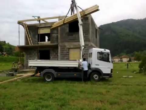 mercedes atego 815 kiper kran youtube. Black Bedroom Furniture Sets. Home Design Ideas