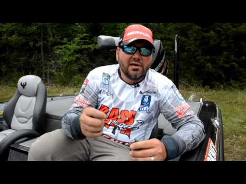 How Greg Hackney caught his bass fishing at the Dardanelle Elite Series event