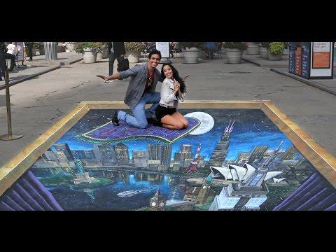 3D ALADDIN Street Art Takes New York City on a Magic Carpet Ride