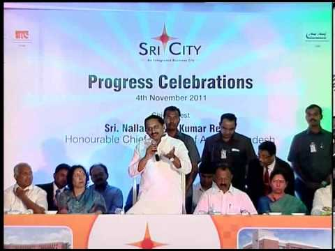 Sri City Progress Celebration Speech by Sri. N. Kiran Kumar Reddy, Hon'ble CM of AP