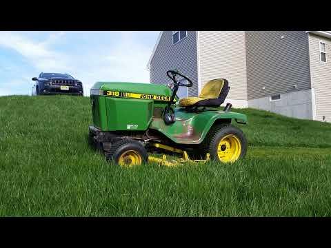 1989 John Deere 318 Working in Tall Grass
