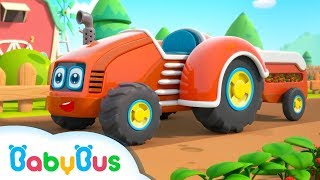 Farm Tractor Comes to Help |  Learn Vegetables & Fruits | Nursery Rhymes | Kids Songs | BabyBus