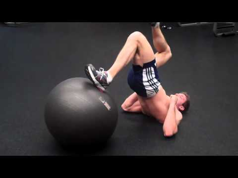 How To: Single-Leg Curl on Exercise Ball Image 1