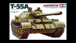 Weathering the Tamiya T55 Russian Battle tanks 1-35 scale (2)