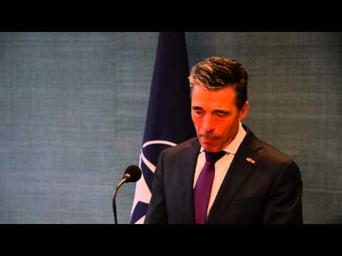 Joint press point by NATO Secretary General Anders Fogh Rasmussen and the Prime Minister of the Netherlands Mr. Mark Rutte at the Catshuis in The Hague, Neth...