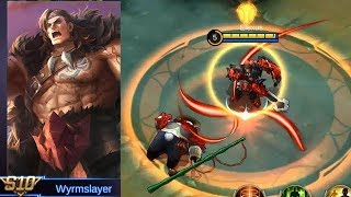 Tigreal Season 10 Skin Wyrmslayer Gameplay (Tank Again..?) - Mobile Legends
