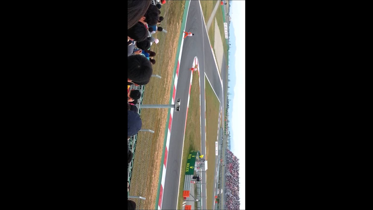 F1 2013 Korea GP D stand track marshal (Perez's front wing) - YouTube