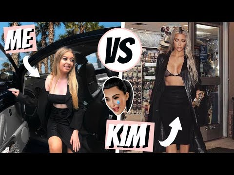 I DRESSED LIKE KIM KARDASHIAN FOR A WEEK! MY LIFE IN HER OUTFITS!