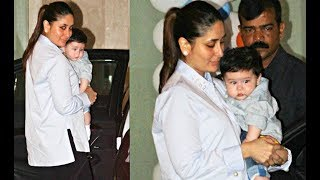 Kareena Kapoor And Taimur Ali Khan First Trip To London