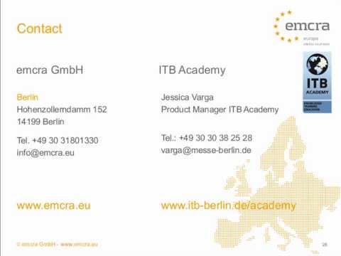 ITB Academy Webinar: How to raise EU funds for tourism?