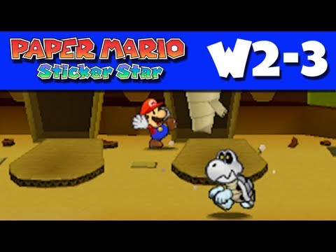 Paper Mario Sticker Star - Gameplay Walkthrough World 2-3 - Sandshifter Ruins (Nintendo 3DS)