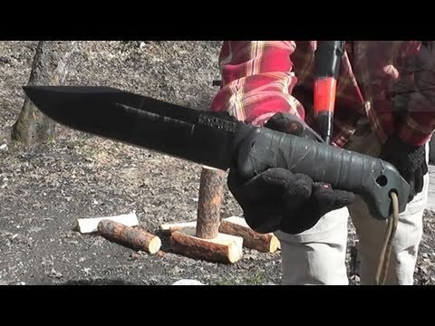Ka-Bar BK-7 Wood Processing Test