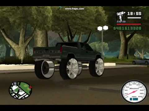 GTA SAN ANDREAS RIDIN BIG CHEVY Z71 TRUCK DONK MOD 30 inches Video
